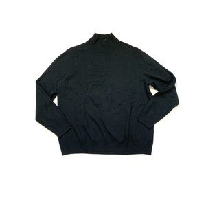 Relativity Black Long Sleeve Mock Turtleneck Shirt